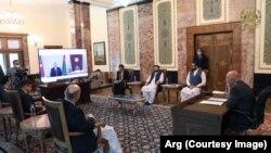 د افغان، اذربایجان او ترکمنستان ولسمشرانو ترمنځ ویډیو کنفرانس