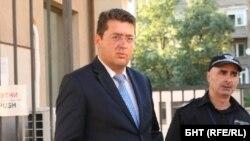 Президентският секретар Пламен Узунов на излизане от Специализираната прокуратура в петък