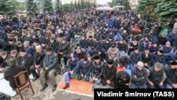 Жители Магаса протестуют против решения «пограничного вопроса» с Чечней, 5 октября 2018 года