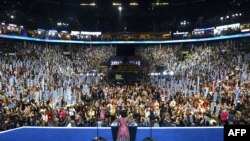 اولین روز از گردهمایی سه روزه حزب دموکرات آمریکا در ایالت کارولینای شمالی- ۱۴ شهریورماه