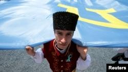 Украина, акция памяти депортации крымских татар, 18 мая 2016 года