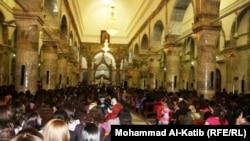 """قداس عيد القيامة في كنيسة """"الطاهرة الكبرى"""" في نينوى"""