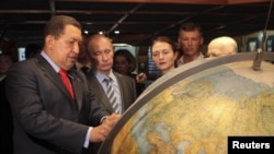 Venezuelan President Hugo Chavez met with Russian leader Vladimir Putin in Venezuela in April, 2010.