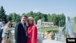 Дональд Трамп с женой Иваной в Петергофе, 1 июля 1987 года