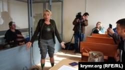 Галина Осьминина, жена Сергея Осьминина, на заседании суда