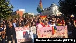 Pamje nga Parada e Krenarisë në Prishtinë.