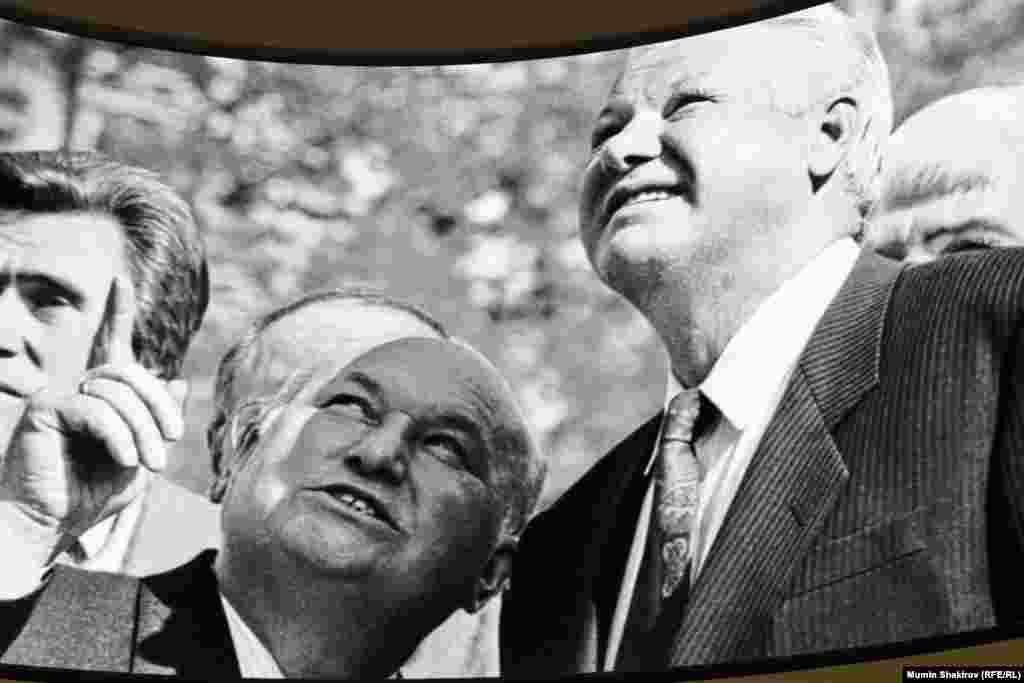 Мер Москви Юрій Лужков і президент Росії Борис Єльцин. Спочатку союзники, потім – опоненти.