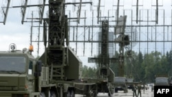 Russian radar systems on display outside Moscow