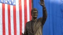 The statue unveiled