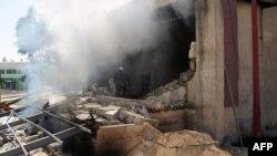 Pamje pas një eksplodimi të djeshëm në Damask të Sirisë
