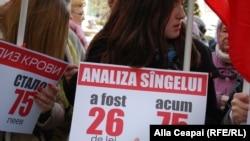Demonstrație la Chișinău împotriva majorării tarifelor pentru serviciile medicale