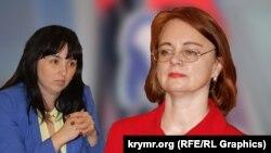 Елена Надель и Светлана Базилюк (коллаж)