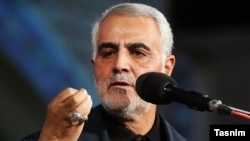 General Qassem Soleimani, the head of the Islamic Revolutionary Guards Corps' Quds Force (file photo)