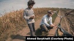 «Mıqlar» filminiñ çekimlerinde. Foto rejissör Ahmed Sarıhalil tarafından taqdim etildi