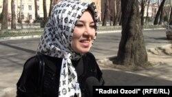 """Яке аз сокинони Душанбе, ки ба пурсиши """"Озодӣ"""" посух медиҳад."""