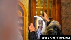 Белград- церемонија по смртта на патријархот Иринеј