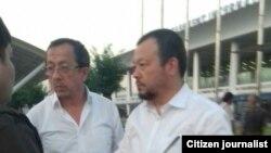 Братья Аброл и Шухрат Дусмухаммедовы в аэропорту Ташкента, 28 мая 2018 года.