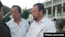 Братья Аброл и Шухрат Дусмухаммедовы были задержаны в аэропорту Ташкента, 28 мая 2018 года.