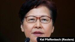 Carrie Lam, șefa executivului din Hong Kong, 3 septembrie 2019