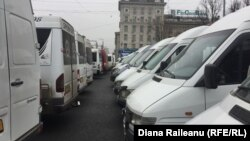 Greva transportatorilor auto din Chişinău