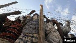 Лагерь беженцев Дадааб на границе Кении и Сомали