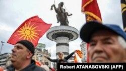 Sa prosvjeda na središnjem trgu u Skoplju