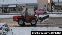 Sneg u Kragujevcu, foto: Branko Vučković