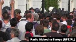 Протестите пред македонската Влада на 5 мај.