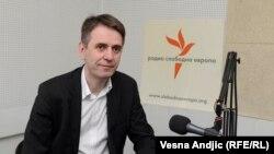 Saša Radulović u beogradskom studiju RSE