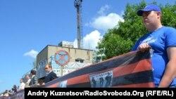 100-метрова георгіївська стрічка, Луганськ, 22 червня 2011 року