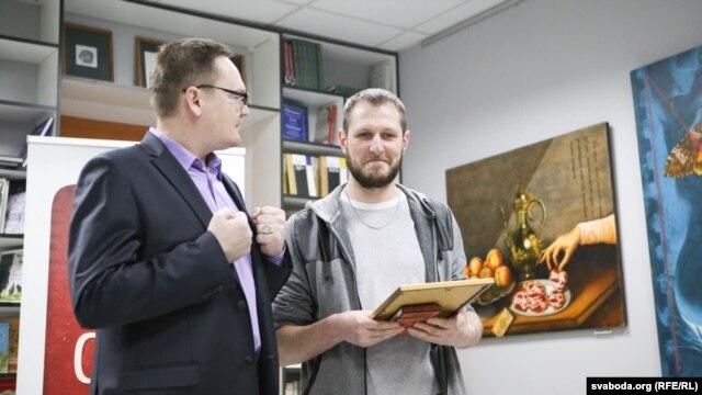 Алесь Пашкевіч і Віталь Рыжкоў