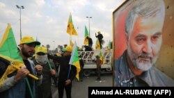 Шествие в Иране с требованием отомстить за смерть генерала Касема Сулеймани, 4 января 2020 г.