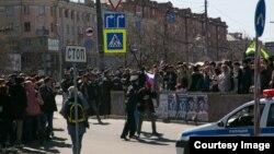 """Задержание участников акции """"Он нам не царь"""" в Челябинске"""