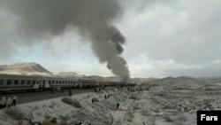 Железнодорожная авария в иранской провинции Семнан. 25 ноября 2016 года.