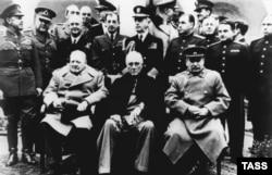Ялтинська зустріч: Черчилль, Рузвельт, Сталін. Лютий 2045 року