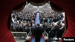 Инаугурация президента США Барака Обамы на второй срок. Вашингтон, 21 января 2013 года.