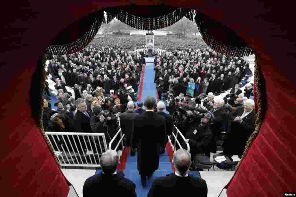 Obama stiže na ceremoniju inauguracije