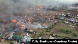 Пожар в Лесосибирске, май 2017 года