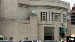 The Holocaust Memorial Museum is surrounded by police vehicles after the shooting on June 10.