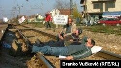 Sa jednog od protesta radnika u Srbiji