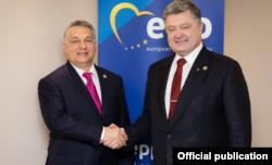 Еще в конце марта этого года Виктор Орбан и Петр Порошенко демонстрировали всяческое дружелюбие