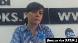 Шахноза Хасанова, представитель общественного объединения «Правовой центр женских инициатив «Сана Сезiм». Шымкент, 1 июня 2018 года.