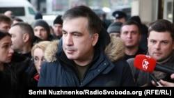 Saakashvili in Kyiv on February 9
