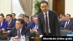 Казак премьер-министри Бакытжан Сагинтаев өкмөттүн жыйынында, Астана, 30-январь 2019-жыл.