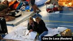 Իտալիա - Երկրաշարժից տուժած Ամատրիչե քաղաքի բնակիչները փողոցում են գիշերել, 25-ը օգոստոսի, 2016թ․