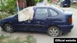 Пошкоджене вибухом авто в Одесі