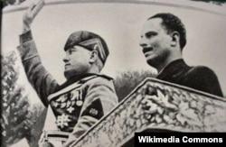 Бенито Муссолини и Освальд Мосли, 1936