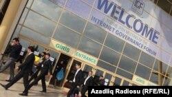 İnternet İdarəçiliyi Forumunun keçirildiyi Baku Expo Center