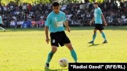Tajikistan,Dushanbe city, Ahtam Nazarov,a tajik football player,25December2013