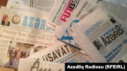 Azerbaijan. Baku. Azerbaijan newspaper